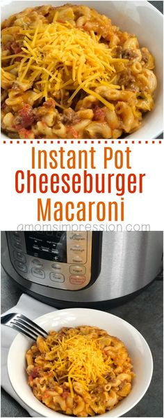 Remember eating Hamburger Helper Cheeseburger Macaroni as a child? This homemade version is easy, tasty and made in under 15 minutes in your pressure cooker. Your family is going to love this Instant Pot Cheeseburger Macaroni recipe. #InstantPot #InstantPotrecipe #cheeseburgermac