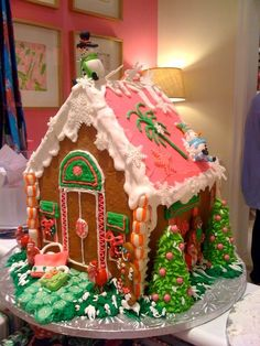 I mean, OMG- how fun! [Lilly Pulitzer Gingerbread house]