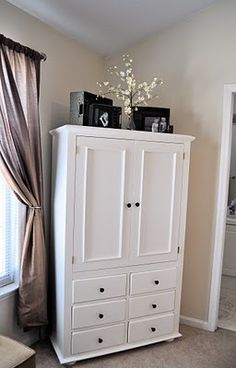 I love her blog! I really want an armoire and they refinished it from her parents old pine furniture.