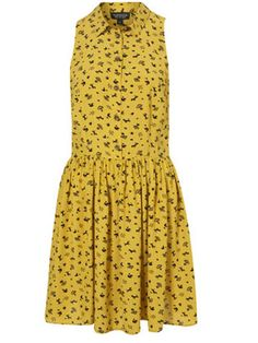topshop clothes   Selena Gomez steps out in sunny yellow Topshop dress - now