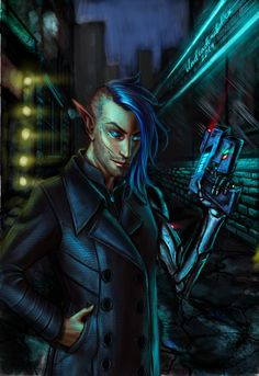 Shadowrun Returns Fanart redone by undeadcrabstick