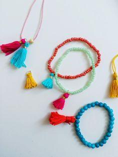 Bracelets with tassels