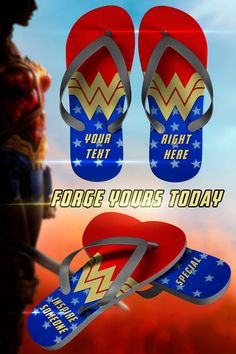 Makes a great inspirational gift for someone or yourself and great addition to any Wonder Woman costume. Forge your very own today. Logo Wonder Woman, Geek Squad, Wonder Women, Womens Flip Flops, Dc Heroes, Inspirational Gifts, I Love Fashion, I Movie, Cool Style