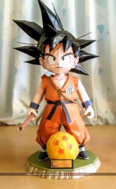 Kid Goku - Papercraft.eu