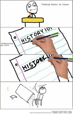 funny underline writing comic meme