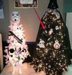 A Star Wars Christmas tree will DEFINITELY show people the Force is with you.