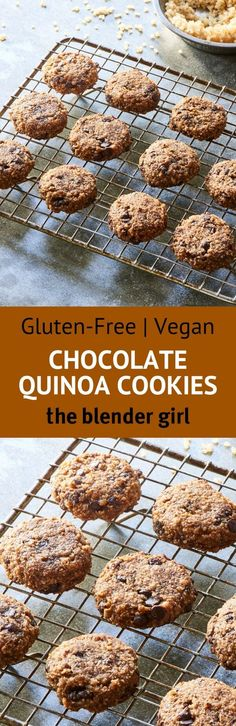 Gluten Free Chocolate Cookies | Vegan Chocolate Quinoa Cookies | The Blender Girl