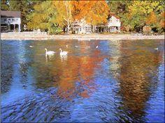 Mirror Pond in Fall by Joanne Donaca www.joannedonaca.com