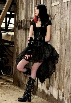 Cute Goth Outfit