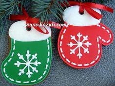 Christmas cookies / Gingerbread cookies /Новогоднее печенье, новогодние пряники, рождественское печенье Варежки-Носочки