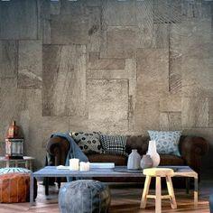 Salon Moderne à Tapisserie Murale Effet Trompe Lu0027œil