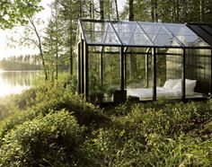 outdoor-glass-pavilion...like when it's pouring rain :)