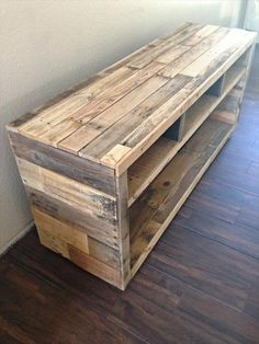 It is a simple wooden pallet table which  is looking like a rack, here you can manage your things easily which are placed freely in your home and where you can save your things carefully.