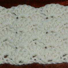 Shell stitch is one of the crochet stitches included in our photo gallery of special crochet stitches. See a picture of the shell stitch and learn how to crochet it!