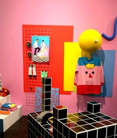 Sibling and Co visual merchandising inspiration   grid and geometric interior design inspiration