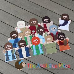 PATTERN Set of Jesus and his 12 disciples 13 by TheAppliquePlace