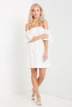 fe297fa855f8 Malgo White Off the Shoulder Dress