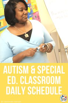 Are you at a loss for what your daily schedule should look like in your autism or special education classroom? Are you looking for ideas on how to make your schedule better? I'm sharing an example of my daily schedule here. Autism Teaching, Autism Classroom, Special Education Classroom, Classroom Daily Schedule, Autism Resources, Classroom Resources, Modern Classroom, Spanish Language Learning, Back To School Activities