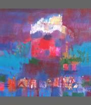 Castle Evening by Francis Boag on display at Heinzel Gallery, Aberdeen