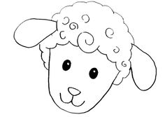 Sheep Drawing, Farm Lessons, Preschool Colors, Baby Sheep, Happy Eid, Easter Activities, Applique Patterns, Baby Crafts, Line Drawing