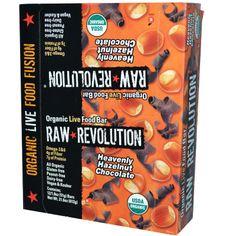 Raw Revolution, Organic Live Food Bar, Heavenly Hazelnut Chocolate, 12 Bars, 1.8 oz (51 g) Each
