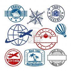 New Travel Logo Stamp Ideas Travel Stamp, Travel Logo, New Travel, Passport Stamps, Stamp Printing, Tampons, Logo Stamp, Postage Stamps, Clip Art