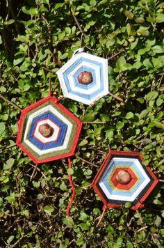 Tactile Chestnuts Autumn Craft - Chestnut Spiderwebs