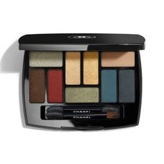 Chanel - Les 9 Ombres - Multi-Effects Eyeshadow Palette Chanel Eyeshadow, Chanel Makeup, Matte Eyeshadow, Eyeshadow Brushes, Eyeshadow Makeup, Eyeshadow Palette, Eyeshadows, Make Up Palette, Makeup Collection