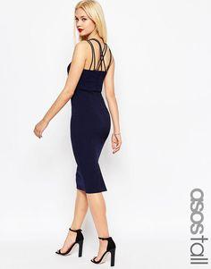 Облегающее платье‑футляр ASOS TALL - Темно-синий