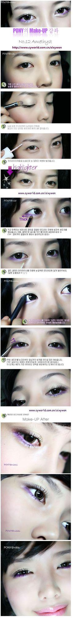 Korean-style makeup highlights. http://img529.imageshack.us/img529/5791/ponyamethystwn1.jpg