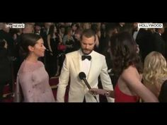 I don't own the video (Sky) Jamie and his wife Amelia Warner interviewed on the red carpet.