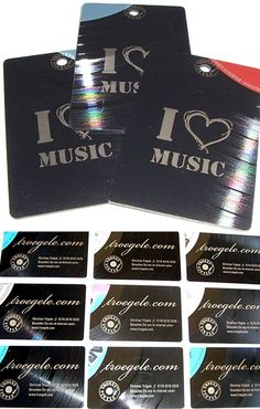 Vinyl Record Business card | Business Cards | The Design Inspiration