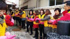 하나님의교회 안상홍증인회 옥천고앤컴 연탄배달 봉사활동