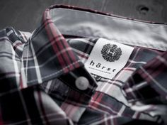 Brand New: Hörst gets Hot Mens Clothing Brands, Clothing Labels, Men's Clothing, Identity Design, Brand Identity, Elements Of Style, Vintage Labels, High Class, Label Design
