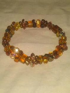 Brown and gold double strand twist bracelet