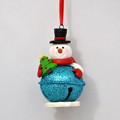 Snowman Jingle Bell Ornament features Frostys head, feet, and accessories made from clay dough and assembled onto a sparkly red jingle bell. Christmas Crafts For Kids To Make, Polymer Clay Christmas, Handmade Christmas Gifts, Holiday Crafts, Christmas Bells, Diy Christmas Ornaments, Christmas Presents, Jingle Bell Crafts, Scraps Quilt