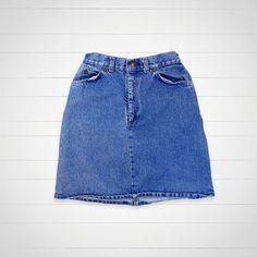 70s Vintage Levis Denim Skirt / Orange Tag 25 Waist by louiseandco, $35.00