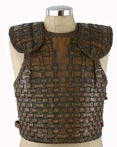 embossed woven texture leather chestpiece