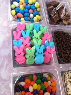 Peeps, jelly beans, and chocolate eggs