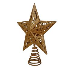 christmas tree topper - Kurt Adler Gold Glittered 5 Point Star Treetop ** Click picture to assess even more details. (This is an affiliate link). Best Christmas Tree Toppers, Best Christmas Tree Decorations, Cool Christmas Trees, Christmas Gifts, Snowman Christmas Tree Topper, Star Wars, Star Tree Topper, Christmas Inspiration, Gold Glitter
