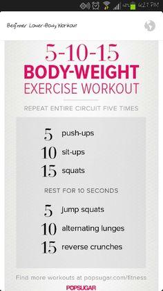 Beginner CrossFit workout