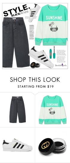 """""""Beautiful Halo"""" by mycherryblossom on Polyvore featuring adidas, Gucci, Essence, women's clothing, women's fashion, women, female, woman, misses and juniors"""