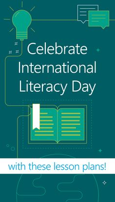 International Literacy Day is coming up! Celebrate with these reading, writing and digital literacy lesson plans that you can do with your class. International Literacy Day, Map Maker, Digital Literacy, Question Of The Day, Classroom Activities, You Can Do, Lesson Plans, Tech, English
