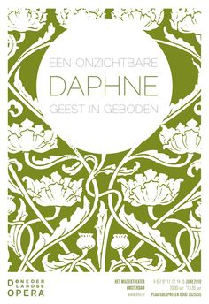 Daphne opera poster by Christian Ort for the De Nederlandse Opera, Amsterdam