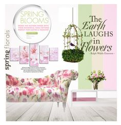 """""""Spring Home"""" by eso-so ❤ liked on Polyvore featuring interior, interiors, interior design, home, home decor, interior decorating, Stray Dog Designs and LSA International"""