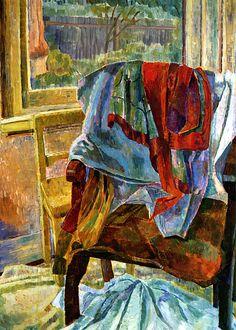 Grace Cossington Smith, Drapery, chair and window, 1942