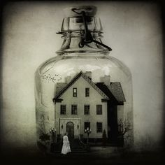 """""""The Haunted Bottle"""" this is so cool! might just have to do this with my house(:"""