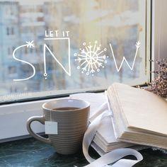 Let it snow voor een winters uitzicht, vier het seizoen (en de feestdagen) met deze handlettering #raamtekening.