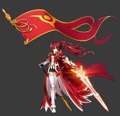 10년을 기다려왔다! 완성된 힘으로 20개의 시련을 넘어, 신념을 증명하라! Elsword, Cool Anime Girl, Anime Art Girl, Anime Girls, Anime Fantasy, Fantasy Girl, Hero Fighter, Anime Warrior Girl, Character Art