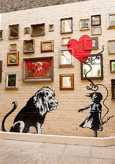 Incredibly nice wall art/street art